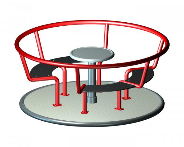 Sitzkarussell rot mit Drehteller - bowi.ch