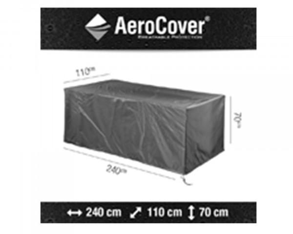 Abdeckung für Tisch AeroCover 240 cm Anthrazit Schutzhülle BOWI - bowi.ch