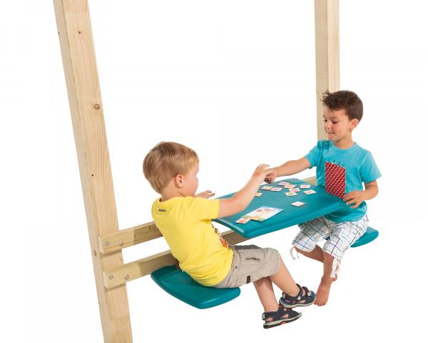 Picknicktisch für an Spielturm Türkis mit Kinder - bowi.ch