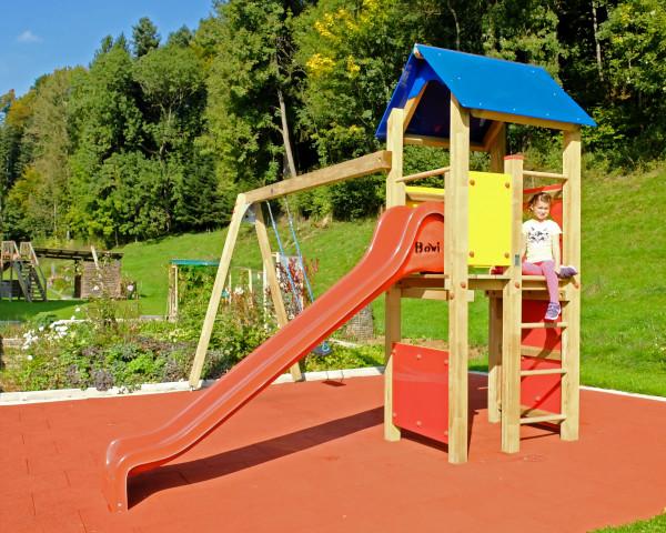 Spielturmkombination Gabriela mit 1-teiliger Anbauschaukel - bowi.ch