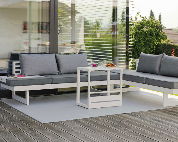 Garten Lounge Holly Set Weiss - bowi.ch