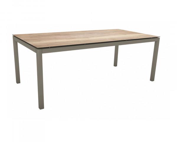 Gartentisch Allround HPL Taupe 200 x 100 cm - bowi.ch