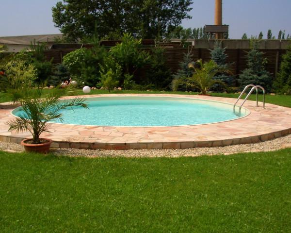 Swimmingpool rund Typ FUN voll versenkt - bowi.ch