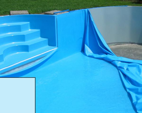 Pool Auskleidefolie rund uni blau - bowi.ch