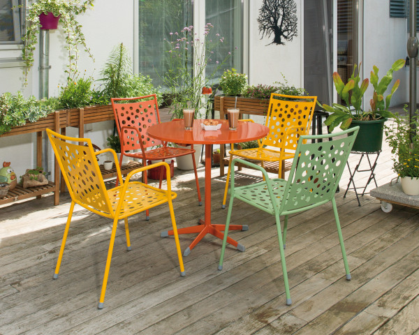 Gartentisch Set Zürich Kopenhagen Karasek klappbar Metall Coralle Gartenmöbel BOWI - bowi.ch