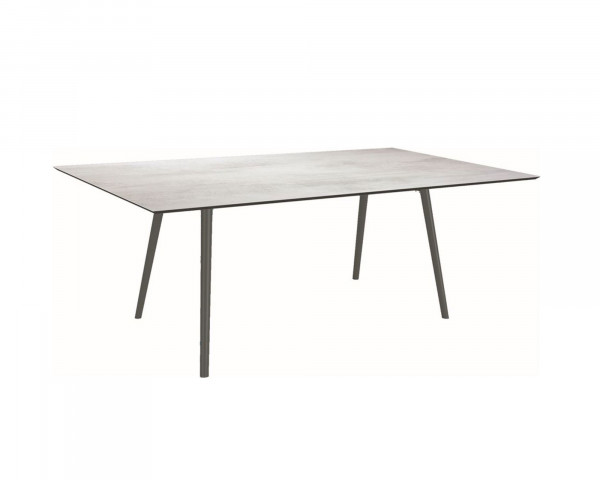 Gartentisch Interno Anthrazit Rundrohr HPL Tischplatte 180 x 220 cm - bowi.ch