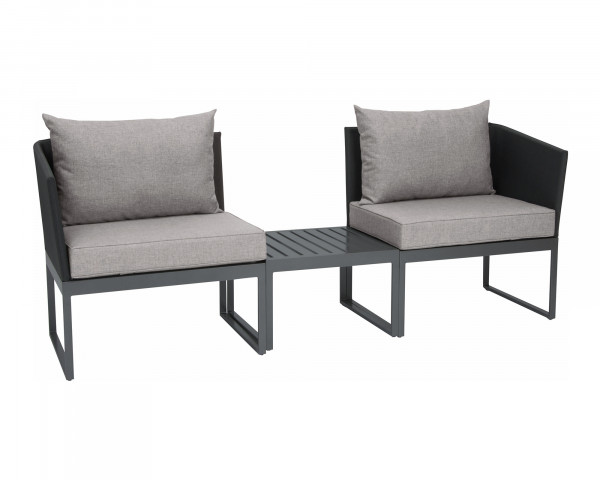 City Lounge Bank Donna verstellbar Gestell Aluminium Graphit - bowi.ch