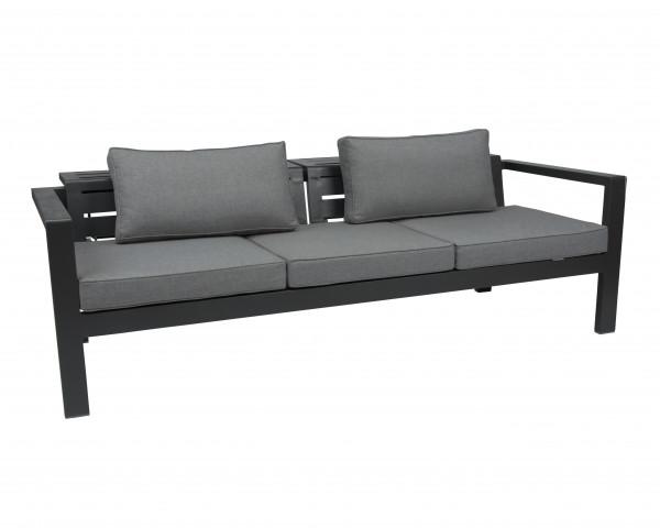 Gartenbak Novus Rücken- und Sitzfläche Verstellbar Anthrazit inkl. Sitz- und Rückenkissen - bowi.ch