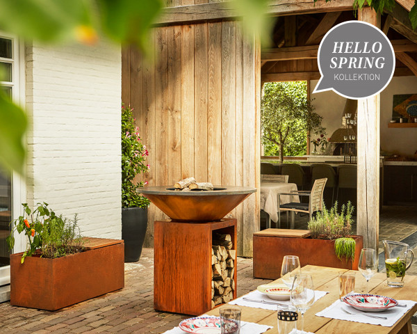 OFYR Feuerring Grill Rost 100 cm Stimmungsbild hello spring - bowi.ch