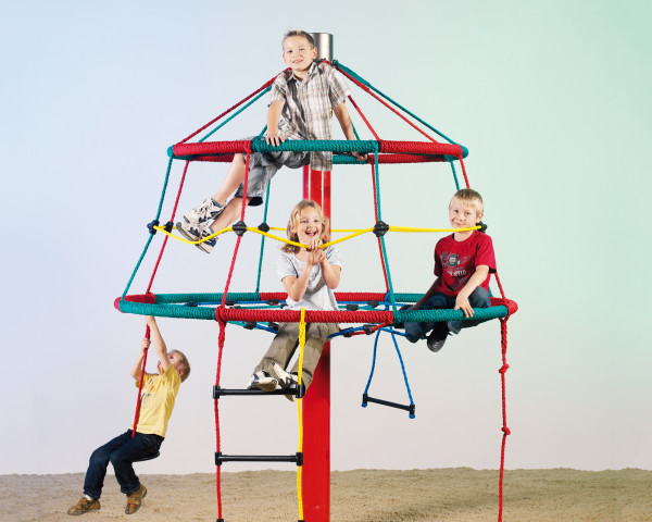 Drehkarussell Kletterbaum Rita mit Kinder - bowi.ch