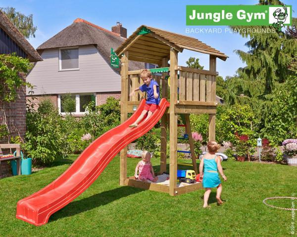 Spielturm Cottage Jungle Gym mit Rutschbahn, Sprossenleiter und Sandkasten - bowi.ch