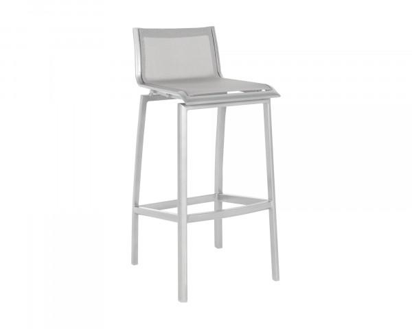 Barstuhl Allround für Outdoor Aluminium Weiss Textilen Silber - bowi.ch