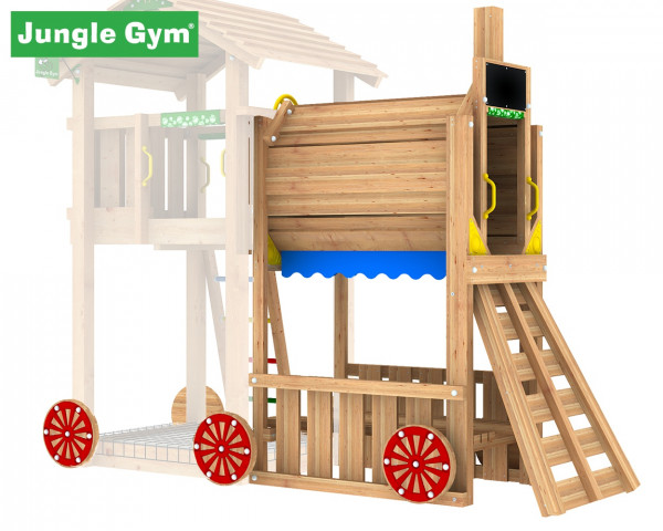Train Modul Jungle Gym mit Kriechtunnel und Kinderspielbank - bowi.ch