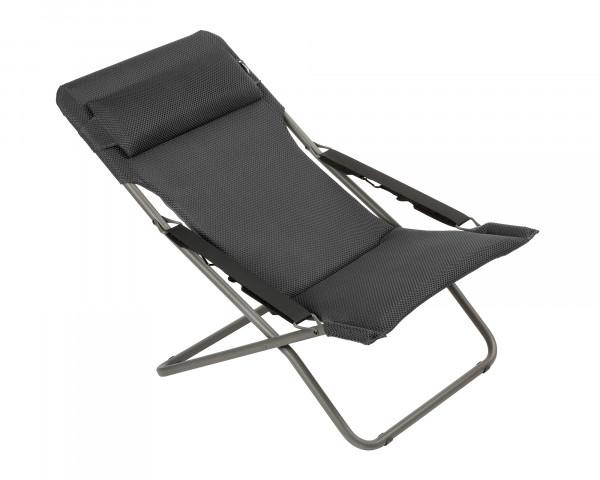 Lafuma Liegestuhl Transabed Be Comfort ® in der Farbe Dark Grey als freigestelltes Bild - bowi.ch