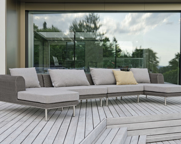 Garten Lounge Viva Set Gross Geflecht Basalt Stern Gartenmöbel BOWI - bowi.ch