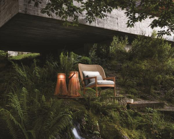 Garten Lounge Kay Sessel NL Gloster Geflecht Kissen Fife - bowi.ch