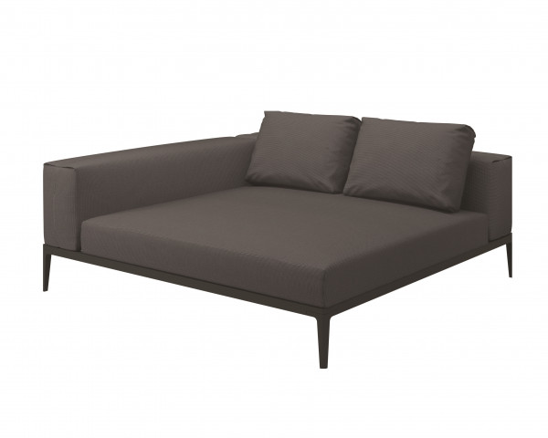 Garten Lounge Grid Gloster Chilleinheit links meteor anthracite - bowi.ch