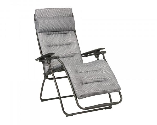 Lafuma Liegestuhl Futura Be Comfort® freigestellt in der Farbe Silver - bowi.ch